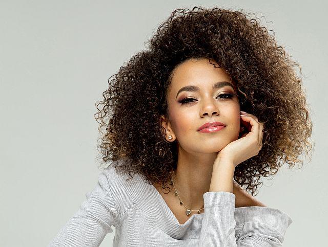 Frizy curly hair