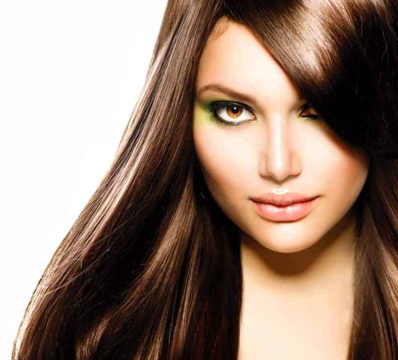 healthy keratin straightened hair