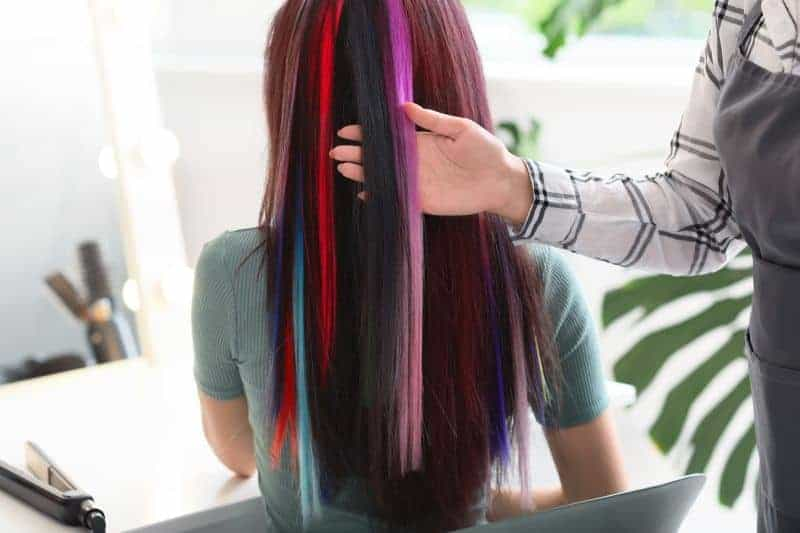 rainbow clip-in hair extensions