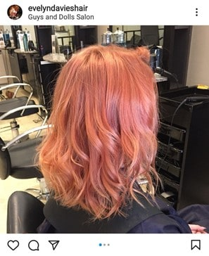 true rose gold hair color