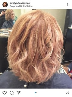 Rose Gold Champagne Blonde Hair