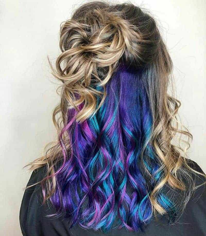 rainbow peek a boo hair